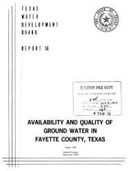 0rt 56 availability and quality of ground water in fayette county, texas