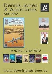 April 2013 New Releases - Dennis Jones & Associates