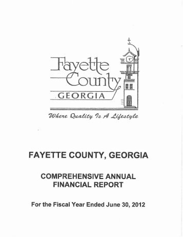 2012 Report - Fayette County Government