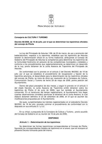 Piloña - Gobierno del principado de Asturias