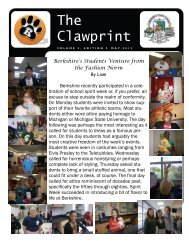 The Clawprint - Berkshire Middle School - Birmingham Public Schools