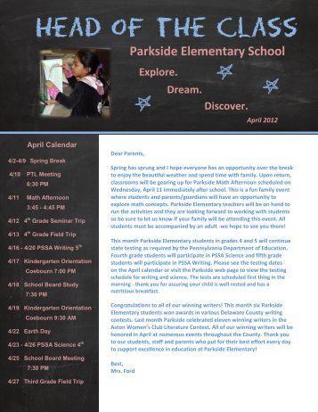 Parkside Newsletter April 2012 - Penn-Delco School District