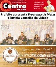 Prefeito apresenta Programa de Metas e instala Conselho da Cidade