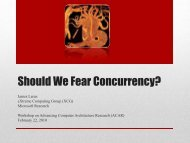 Should We Fear Concurrency? - Microsoft Research