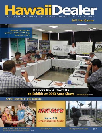 Read the newest issue online! - Hawaii Automobile Dealers ...
