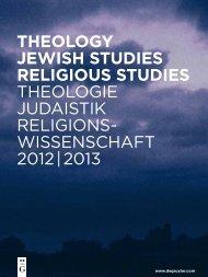 wissenschaft 2012 | 2013 - Walter de Gruyter