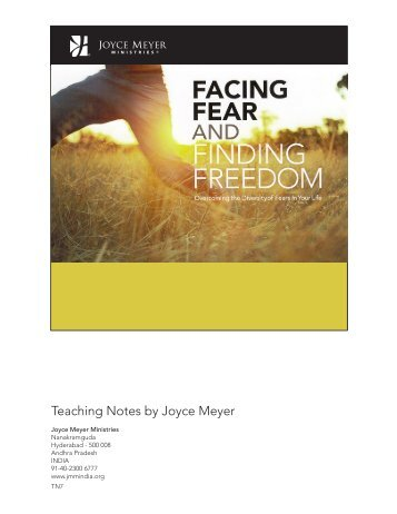 FACING FEAR & FINDING FREEDOM - Joyce Meyer Ministries: Asia