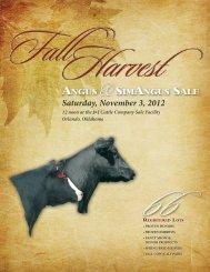 ANGUS &SIMANGUS SALE ::: Saturday, November 3rd - MCS Auction