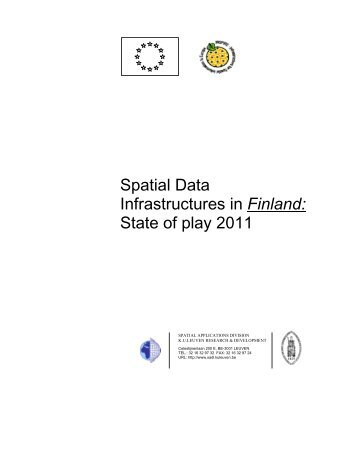 Spatial Data Infrastructures in Finland: State of ... - inspire - Europa