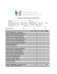Butterfly Census Field Form - Florida Butterfly Monitoring Network