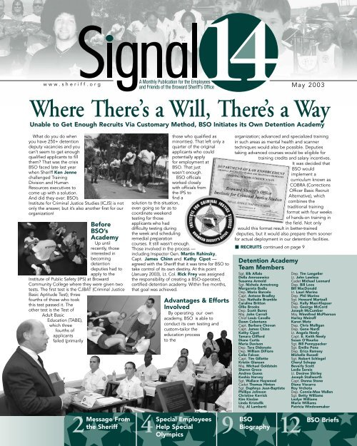 Where There's a Will, There's a Way 4 12 - Broward Sheriff's