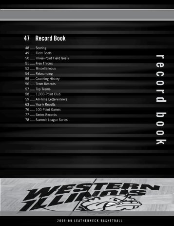 record book - Western Illinois University Athletics
