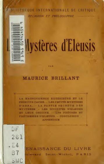 Les mystères de Eleusis