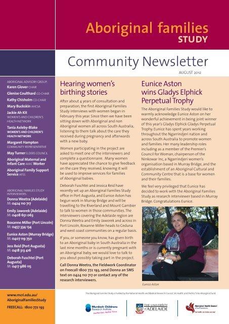 Community Newsletter August 2012