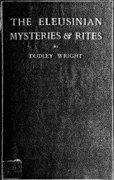 The Eleusinian mysteries & rites. - The Masonic Trowel