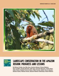Landscape conservation in the amazon region - WCS Bolivia