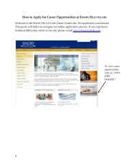 How to Apply for Career Opportunities at EMORY HEALTHCARE