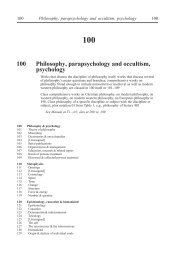 [100 *‡Philosophy, parapsychology and occultism, psychology