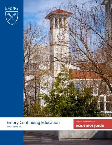View ECE Course Catalog - Emory Continuing Education - Emory ...