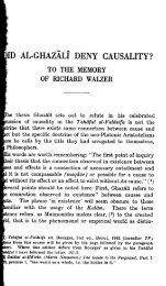 Did Al Ghazali deny Causality - al-Ghazali's Website