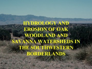 Hydrology and Erosion on Oak Woodlands - Agricultural Research ...