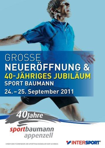 GROSSE NEUERÖFFNUNG & - Sport Baumann in Appenzell