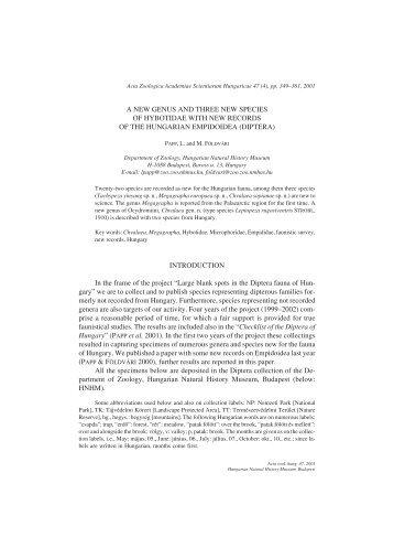 Acta Zoologica Academiae Scientiarum Hungaricae 47 (4), pp - UCL