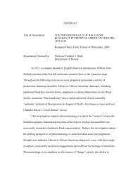 ABSTRACT Title of Dissertation: THE PHENOMENOLOGY OF ...