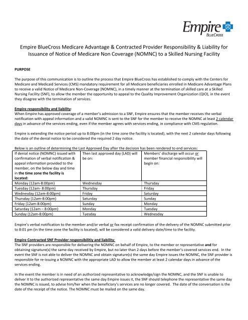 Blue Cross Medicare Advantage >> Empire Bluecross Medicare Advantage Contracted Provider