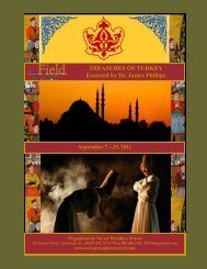 TREASURES OF TURKEY Escorted By Dr. James Phillips