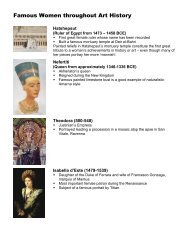 Key Female Artists and Patrons - Sachem Home Page