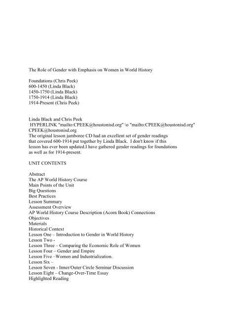 Gender Packet Pdf File Schoolworld An Edline Solution