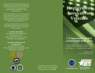 Employment Services for Veterans - United States Department of ...