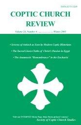 2003 Winter.Vol24.#4.pdf - Coptic Church Review