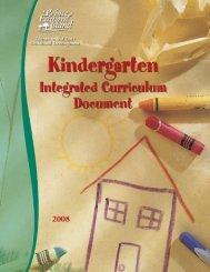 Kindergarten integrated curriculum - Government of Prince Edward ...