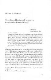Albert Edward Kauikeaouli Leiopapa a Kamehameha ... - eVols