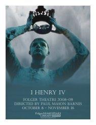 1 HENRY IV - Folger Shakespeare Library