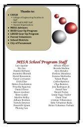 MESA School Program Staff - California State University, Long Beach