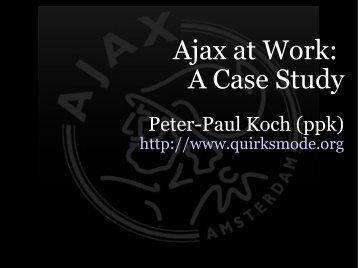 media Ajax presentation - QuirksMode