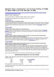 Edward D. Clark v. Commissioner., U.S. Tax ... - Tax Planner CPA