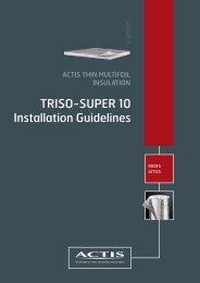 TRISO-SUPER 10 Installation Guidelines - SIG Energy Management