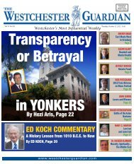 ED KOCH COMMENTARY - Westchester Guardian