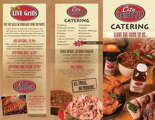 Full Service Catering Menu - City BBQ