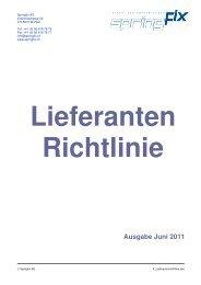 Lieferanten – Richtlinie - Springfix AG