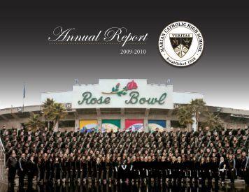 Annual Report - Marian Catholic High School