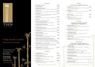 download takeaway menu - Tiien Thai Restaurant Bournemouth