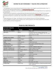 Palm oil free products - Borneo Orangutan Survival