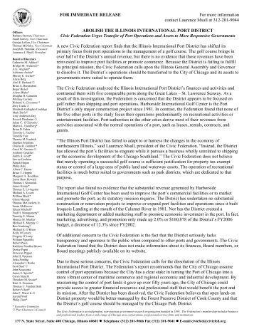 Abolish the illinois international port district - The Civic Federation