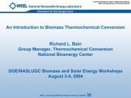 An Introduction to Biomass Thermochemical Conversion - NREL