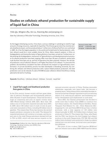 Research paper on ethanol